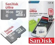 Thẻ nhớ MicroSDHC SanDisk Ultra 16GB 80MB/s